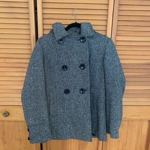 Tweed ESPRIT winter coat. Detachable hood